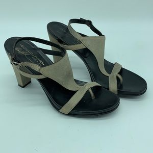 Donald J Pliner Peggy Faded Bronze Heels Size 7M